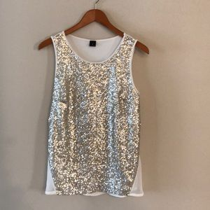 Worthington Loosely Fit Sequin Cami S-M